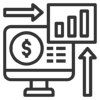 Real time analytics icon